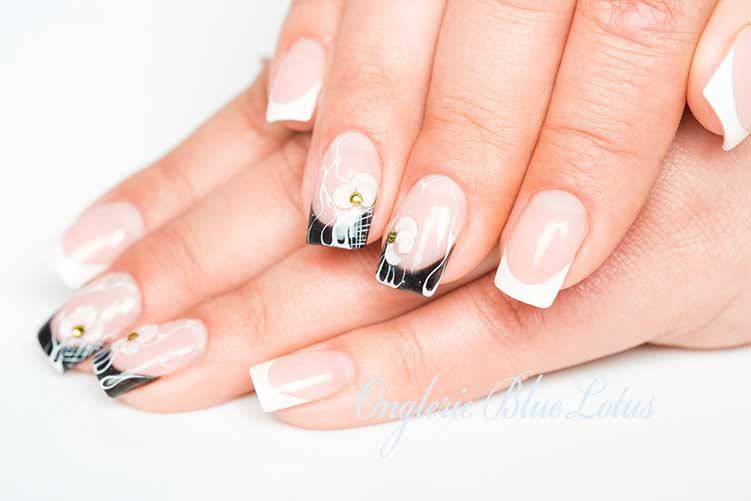 french manucure nail art 3d